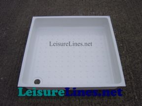 670 SQUARE SHOWER TRAY WHITE HIPS
